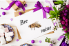 Watercolor Honey Clipart, Handpainted Bee Illustrations example image 4