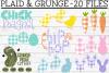 Plaid & Grunge Easter / Spring SVG Cut File Bundle example image 1