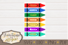 Teacher Crayon SVG - School cut file example image 2