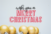 Holiday Season - a festive shadow font example image 4