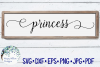 Princess Sign SVG Cut File example image 1