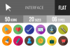 50 Interface Flat Long Shadow Icons example image 1