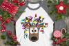 Christmas Lights Tangled Reindeer Watercolor example image 4