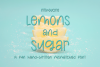 Lemons and Sugar- A Fun Hand-Written Mismatched Font example image 1