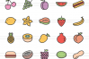 150 Natural Food Filled Line Icons example image 4