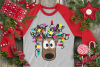 Christmas Lights Tangled Reindeer Watercolor example image 9