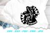 Bulldog Cheer Megaphone Poms SVG DXF Cut Files example image 2