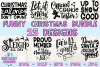 Funny Christmas SVG Bundle | 25 Christmas Sassy Quotes example image 1