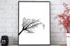 Larva Tree Ink Art, A1, SVG example image 3