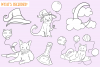 Halloween Party Cats Digital Stamps example image 2
