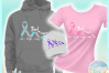 Find A Cure Two Colors Ribbon Svg Dxf Eps Png Pdf Files example image 2