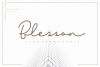 Blesson - Signature Font example image 1