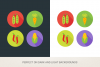 Round Vegetables Icons example image 2