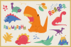 Dino World Vector Cliparts & Seamless Patterns example image 3