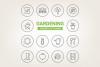 Circle Gardening Icons example image 1