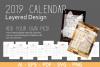 Layered / Editable 2019 Calendar example image 1