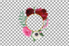 Watercolor elegant floral borders, rose, anemone frames example image 23