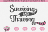 Surviving and Thriving - A Cancer SVG example image 1