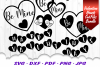 Valentines Day Hearts SVG DXF Cut Files Bundle example image 3