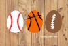 Sports Easter Egg Svg, Soccer Svg, Football Svg, Baseball example image 1