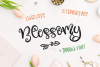Blossomy - Font Duo Floral Doodles example image 2