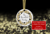 Christmas Ornament Mockup, Gold Sparkles, Smart Object & JPG example image 4