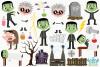 Frankenstein Monsters Clipart, Instant Download Vector Art example image 2