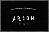 Arson Typeface example image 1