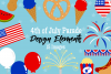 4th of July Parade Graphics, Illustrations, Clipart example image 1