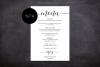 Wedding Menu Card Editable Template Printable Menu Cards example image 3