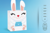 Box SVG File - Bunny Box SVG Template, Easter SVG, Gift Box example image 2
