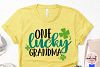One lucky grandma - St. Patrick's Day SVG EPS DXF PNG example image 3