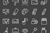 50 Art & Designing Line Inverted Icons example image 2
