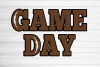 Game Day football svg, football game day shirt svg, football example image 2