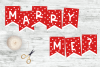 Will You Marry Me? Bunting Banner - Print and cut out example image 1