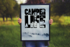 Let's Go Camping | Camping & Hiking Font with Extras example image 9