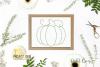 Pumpkin, single line sketch file / foil quill file. example image 4