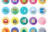 48 Admin Dashboard Flat Long Shadow Icons example image 2