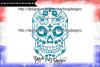 Sugar skull cut file, sugar skull svg, sugar skull vector example image 3