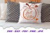 Fall Vibes Word Pumpkin SVG DXF Cut Files example image 3