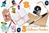 Halloween Numbers Clipart, Instant Download Vector Art example image 4