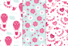12 Valentine Seamless Patterns example image 4