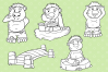 Funny Trolls Digital Stamps example image 3