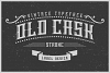 Handcrafted Old Cask label font example image 1