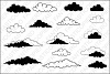 Clouds SVG files for Silhouette Cameo and Cricut. Clouds clipart PNG transparent included. example image 1