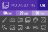 50 Picture Editing Line Inverted Icons example image 1