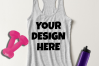 Ladies Tank Top Mockups - 20|Front/Back|PNG example image 7