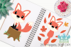 Fox Boys Clipart, Instant Download Vector Art example image 3