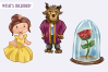 Enchanted Rose Clip Art Collection example image 2