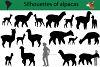 Silhouettes of alpacas example image 1